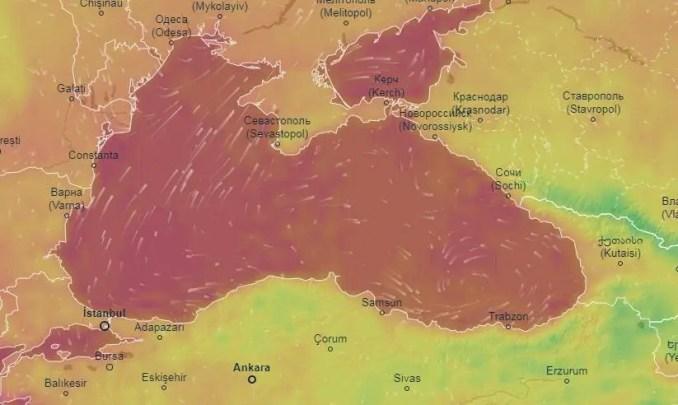 Em média, a diferença de temperatura entre a costa e o mar é de 10 graus, para os turcos a diferença chega a 20 graus