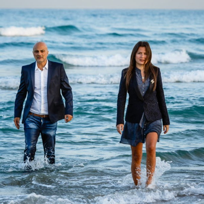 David Leb e Inna Braverman, fundadores da Eco Wave Power