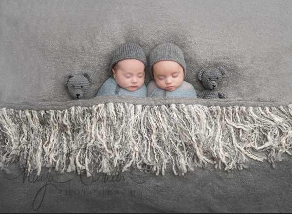 twin newborn boys