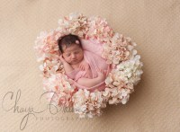 newborn baby flower wreath