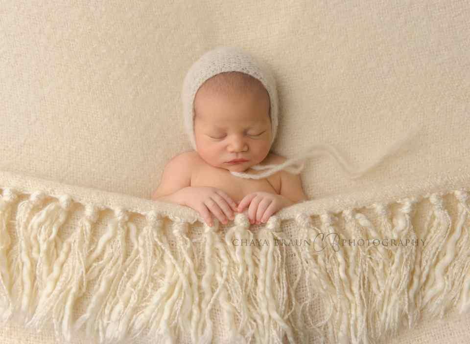 sleeping newborn baby boy in Maryland