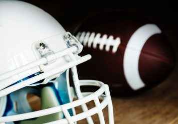 closeup of white football helmet chaz jackson how to prevent bullying