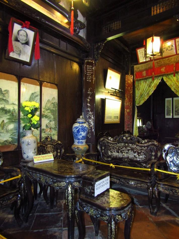 interiér čínského kupeckého domu