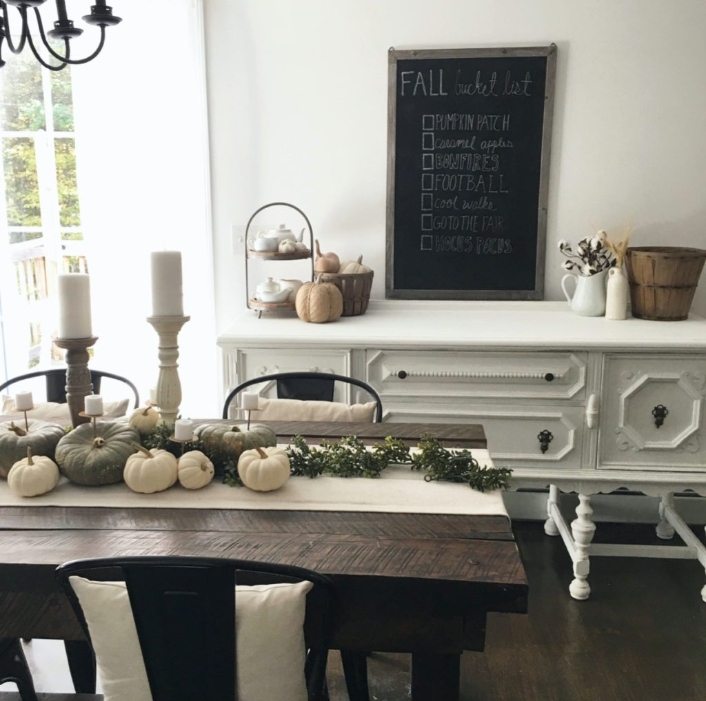 Our Fall Bucket List And A Look At Our Updated Dining Room