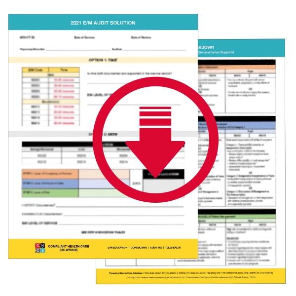 2021 E/M Audit Solution Digital Worksheet
