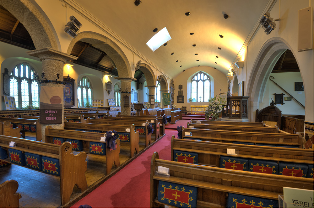 Job: Pelynt Church Caption: Interior view.