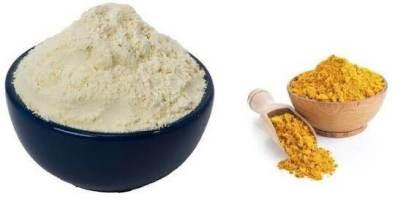 Bengalgram Flour and turmeric