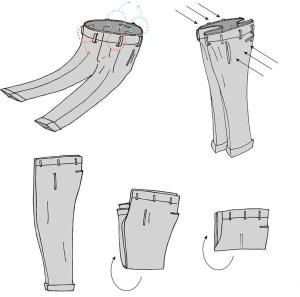 folding of pants