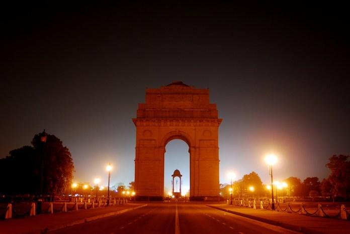 India Gate at night