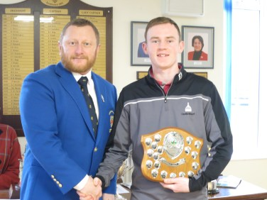 Scratch Trophy winner Tom Fenton