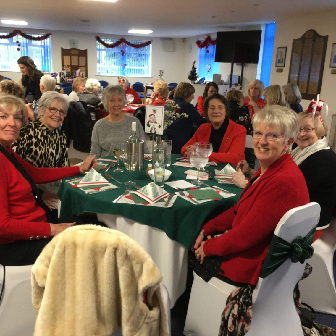 Cheadle ladies enjoying Christmas Lunch together