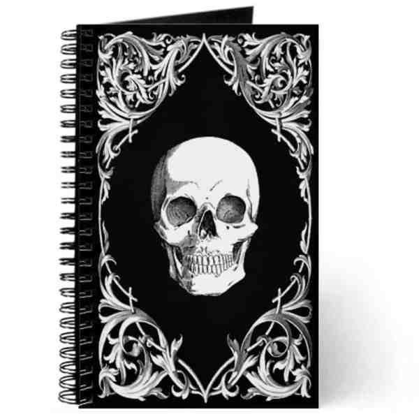 Write down your deepest, darkest secrets in this skull journal.
