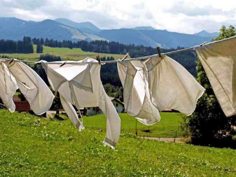Line drying clothes is pretty effective. But ain't nobody got time for that!
