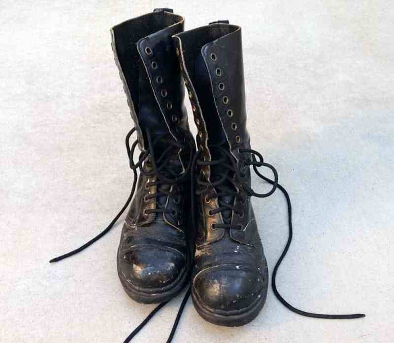 My ancient pair of combat boots. They have been through a lot!