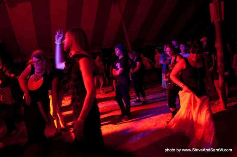 No standing on the dance floor at a goth club
