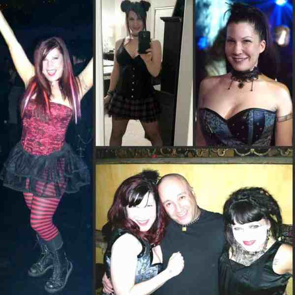 Here I am loving the Goth Clubs with some of my best friends!