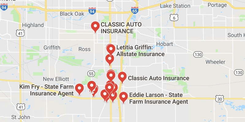 Gerber Collision Locations Map