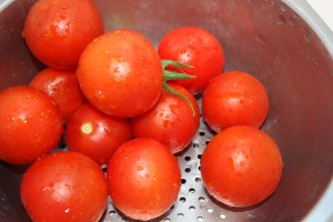 tomatoes in collander