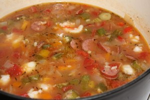 Shrimp and Sausage Soup