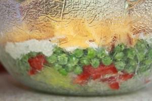 7 layer salad aka pea salad