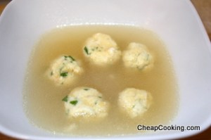 Chicken Broth with Ricotta Dumplings