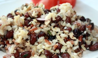 Rice Salad with Chicken, Black Beans and Feta