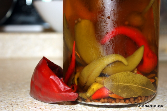 Jamie Oliver's Pickled Chili Peppers Recipe