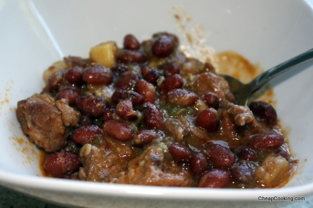 Caribbean Red Bean and Pork Stew