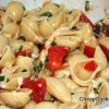 Pasta with Fresh Tomatoes, Basil, Garlic and Cheese