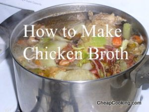 how to make chicken broth