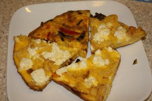 Bread, Pepper & Ricotta Frittata