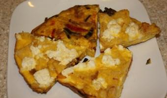 Bread, Pepper and Ricotta Frittata