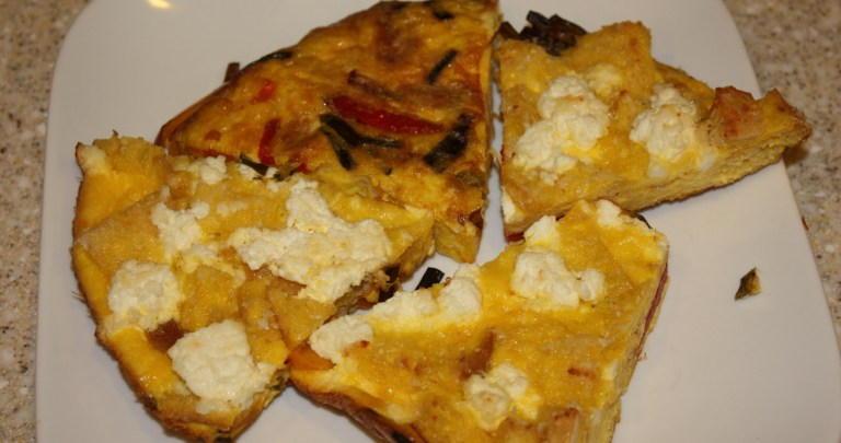 Bread, Pepper and Ricotta Frittata