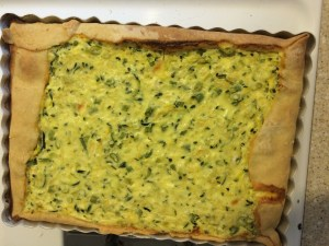 zucchini and rice tart