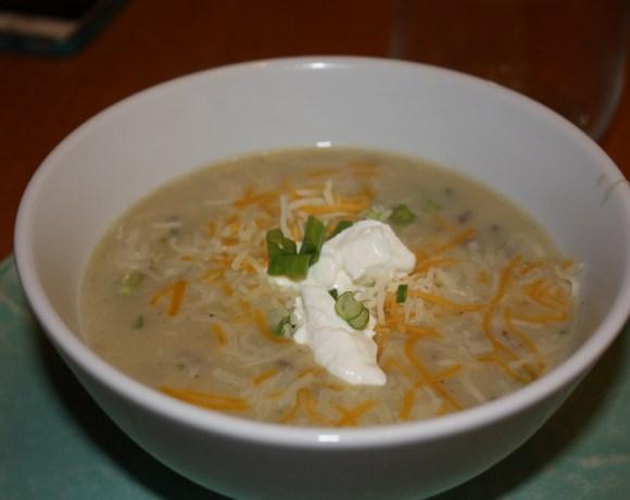 homesick texan's potato soup wtih bacon and jalapenos