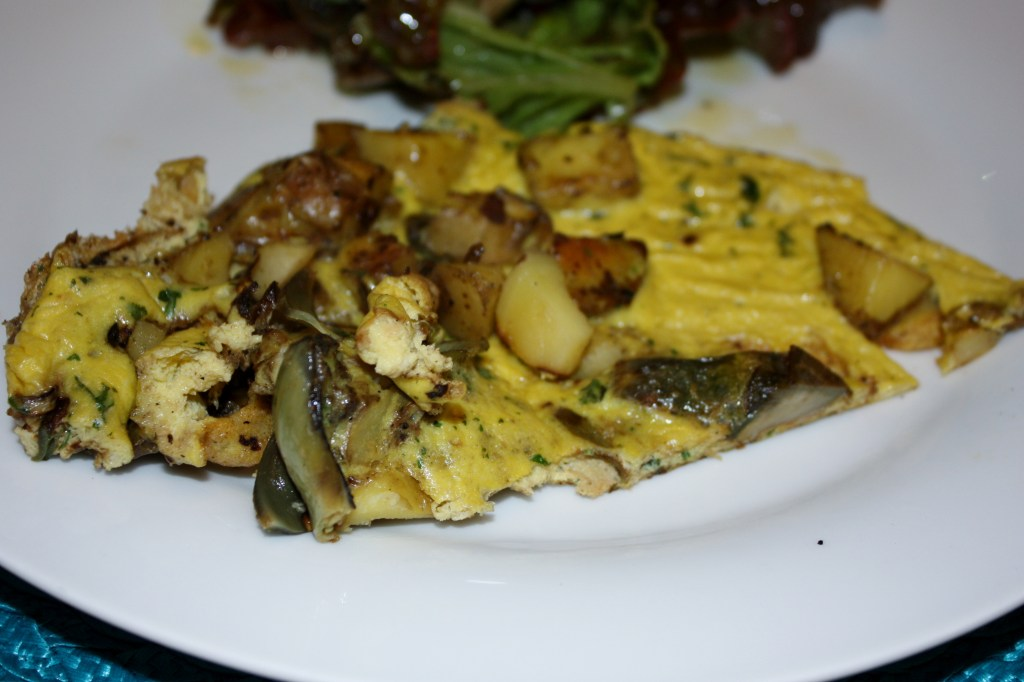 grilled artichoke and potato frittata