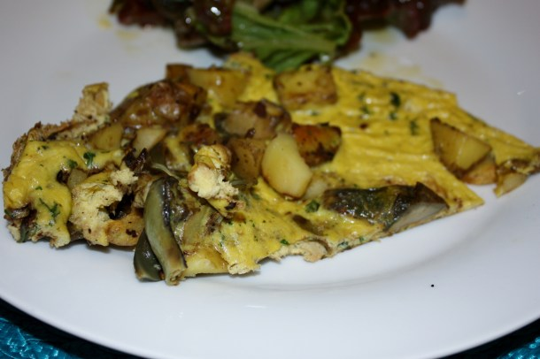 grilled artichoke and potato frittata