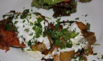 Harissa Chicken with Leeks and Potatoes