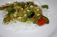 Coconut Rice Noodles with Eggplant
