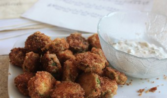 Fried Zucchini with Homemade Ranch Dressing