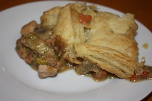 chicken pot pie with leeks and mushrooms