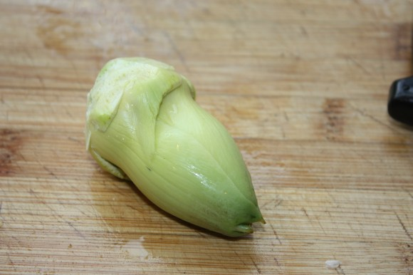 trimmed raw artichoke