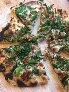 broccoli rabe and sausage pizza