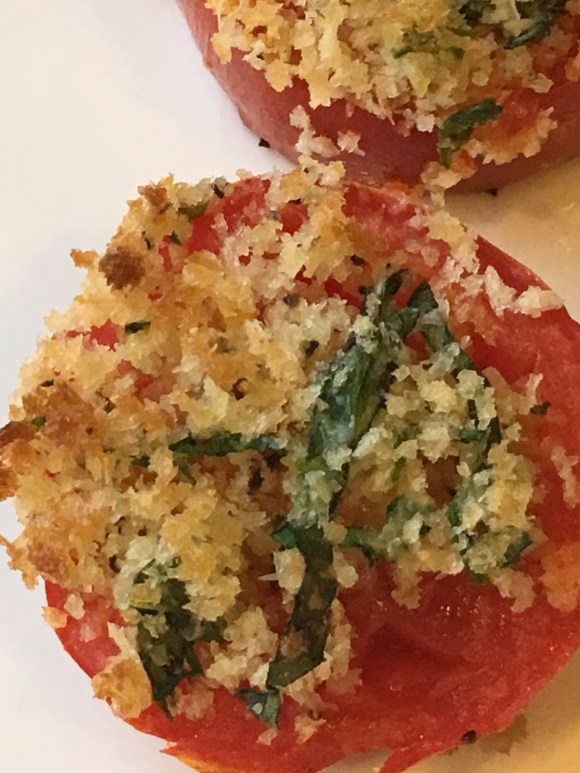 roast tomato with bread crumbs