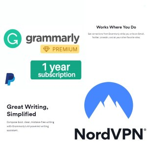 Grammarly Premium Account [1 Year] + Nord Vpn Account [1 Year]