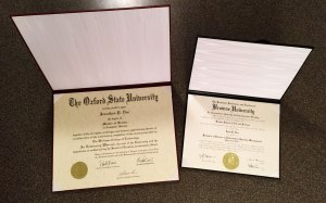 11x14 & 8.5x11 inch replica diplomas