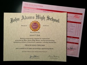Fake High School Diploma & Transcripts