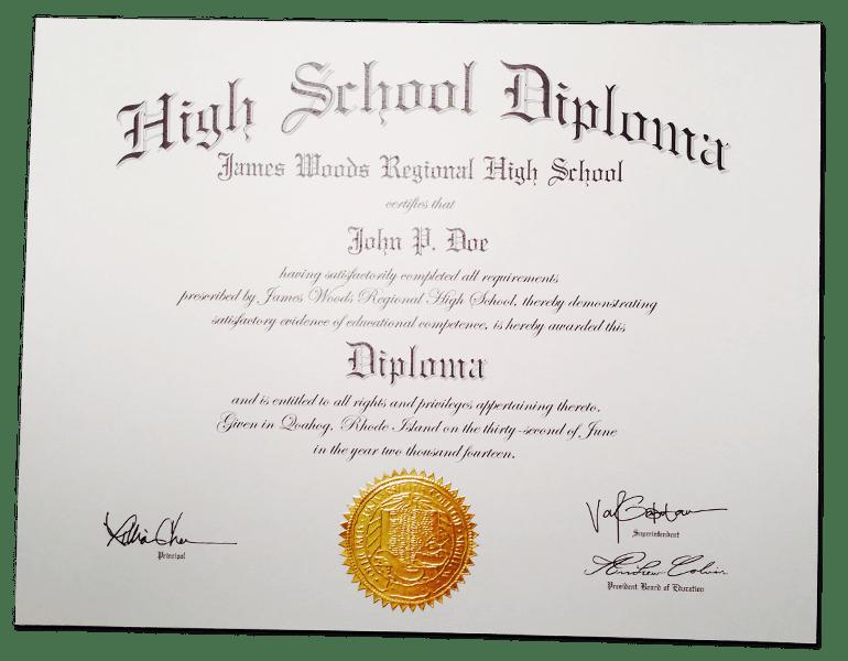 HS-D02 // Fake High School Diploma Template
