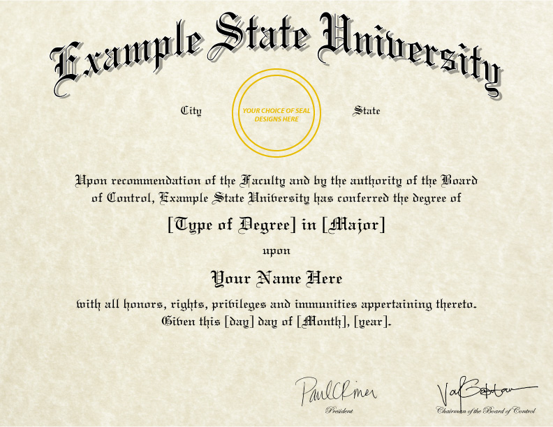FAKE DIPLOMAS & CERTIFICATES | College & University Replicas