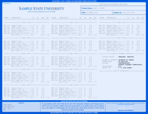COLLEGE TRANSCRIPT TEMPLATE // T01-BLUE